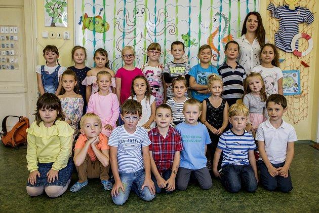 Třída 1.B a paní učitelka Kamila Vopařilová