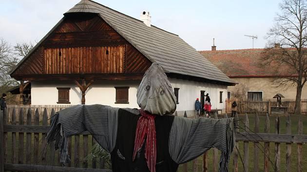 Vánoční výstava ve skanzenu v Přerově nad Labem.