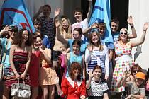Studenti nymburského gymnázia uspořádali po páté slavnost Majáles.
