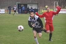 Z fotbalového utkání I.A třídy Červené Pečky - Polaban Nymburk (2:4)