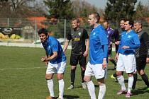 Z fotbalového utkání krajského přeboru Čechie Vykáň - Jíloviště (2:1)