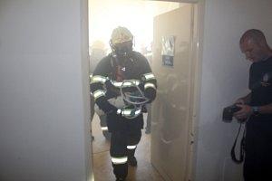Cvičení složek IZS v nymburské nemocnici