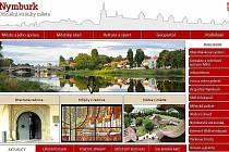 Nová podoba titulní webové stránky města Nymburk.