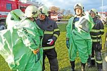 Cvičení Integrovaného záchranného systému v Nymburce.