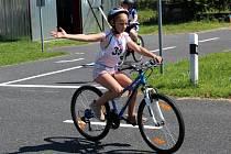 Z krajského kola soutěže Mladý cyklista v Nymburce.