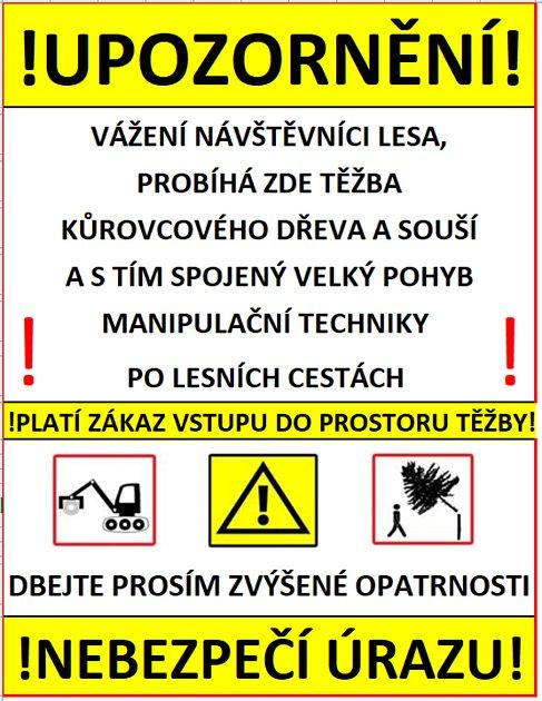 Radnice vyzývá, aby turisté respektovali tato varování. Repro: Nymburský deník