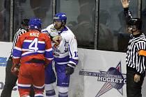 Z hokejového utkání druhé ligy Nymburk - Tábor (3:5)