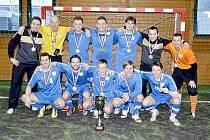 VÍTĚZNÝ TÝM. Mužstvo RKM Brno se stalo vítězem Final Four v malé kopané, které se konalo v milovické hale Milten