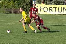 Z fotbalového utkání krajského přeboru Vykáň - Bohemia Poděbrady (1:4)