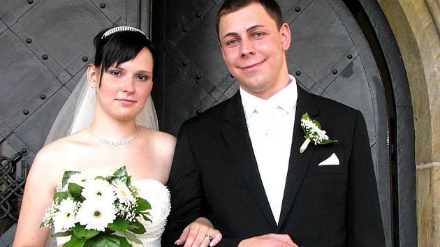 Jaroslav a Radka Brousilovi z Nymburka si své ano řekli v pátek 18. září na nymburské radnici