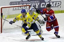 Z hokejového utkání druhé ligy Nymburk - Písek (4:2)