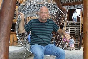 Jiří Antoš, majitel zábavního rodinného parku Mirakulum v Milovicích na Nymbursku