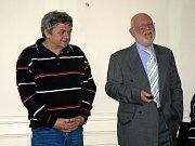 Fotograf Pavel Šticha (vpravo) a Roman Vlasák.