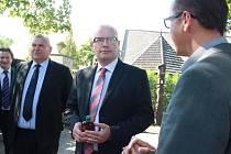 Premiér Bohuslav Sobotka navštívil Přerov nad Labem a Nymburk.