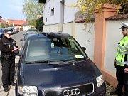 Parkování kontrolovala i smíšená hlídka republikové a městské policie.