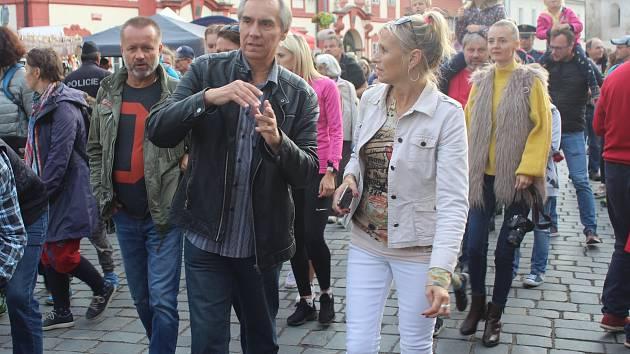 V Brandýse nad Labem a Staré Boleslavi se konala tradiční Svatováclavská pouť. Archivní foto z roku 2019.