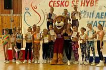 Závodnice aerobiku Sokola Poděbrady