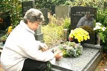 Na hřbitově v Poděbradech