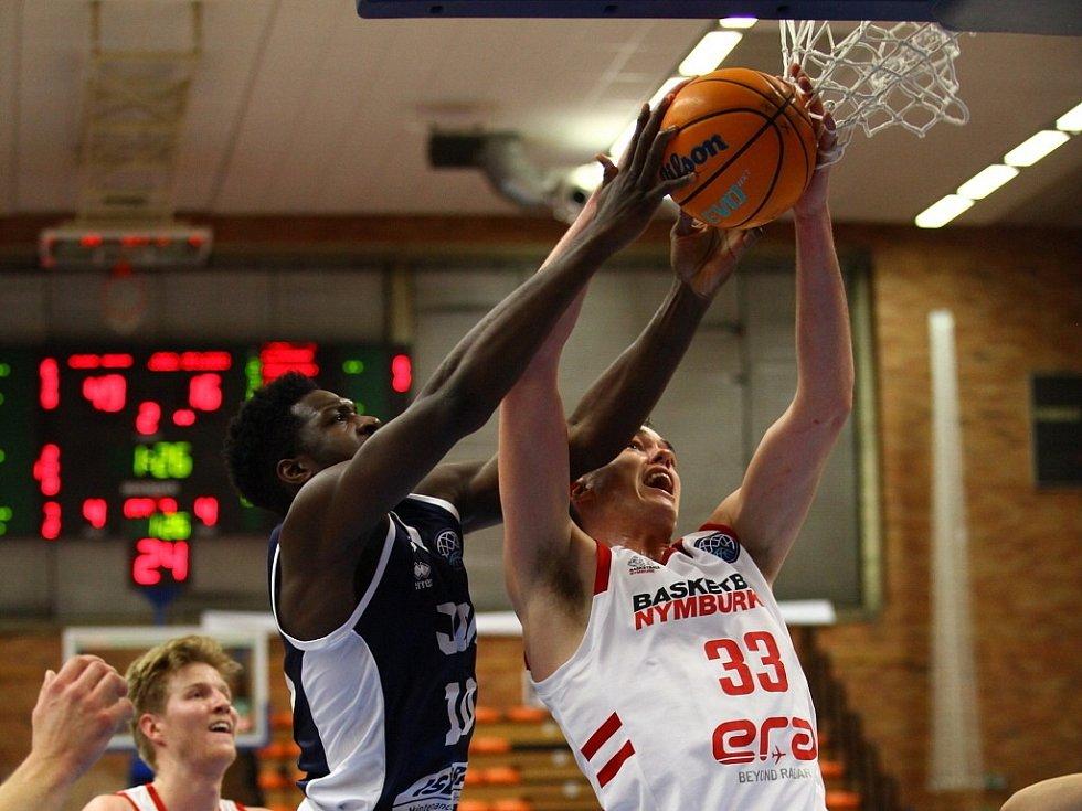 Z basketbalového utkání Ligy mistrů Nymburk - Dijon