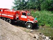 Velkou pomocí při nedostupnosti terénu při zásazích je Tatra V3S.