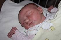 GABRIELA JE ZE SEMIC. Gabriela Novotná se narodila 9. července 2013 v 15.11 hodin s váhou 4 150 g a mírou 50 cm. Doma je s rodiči Michaelou a Lukášem a pětiletou sestrou Anetkou v Semicích.