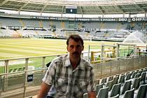 František Šturma na stadionu Juventusu Turín.