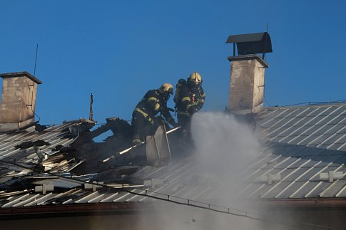 Požár domu v Lysé nad Labem.