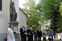 Slavnostní odhalení sochy sv. Václava