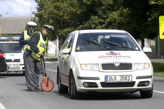 Sedmiletý školák se ve středu odpoledne střetl s osobním autem