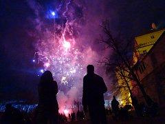 Také lázeňské město přichystalo pro své obyvatele světelnou show na začátku roku.