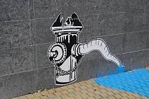 Ilegální pouliční umění v Nymburce, Tyršova ulice