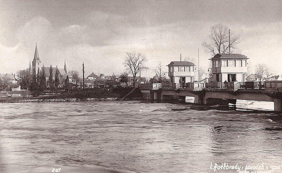Povodeň v Poděbradech 1930.