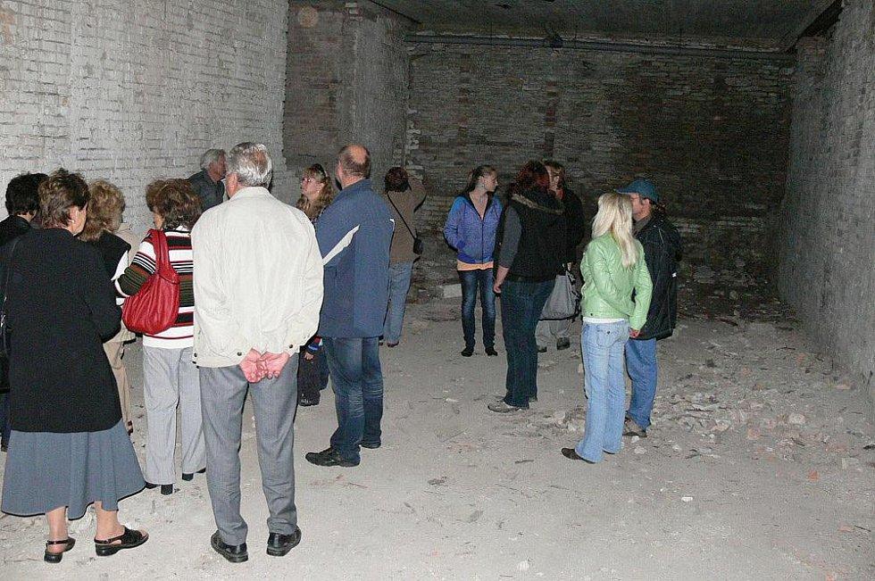Veřejnost měla jedinečnou možnost podívat se do bývalých pivovarských sklepů pod dnešním penzionem Panorama.