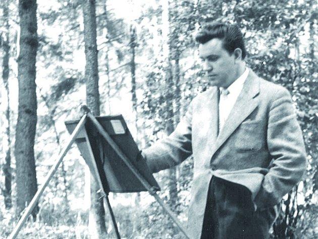 Nymburský malíř Karel Urbánek.