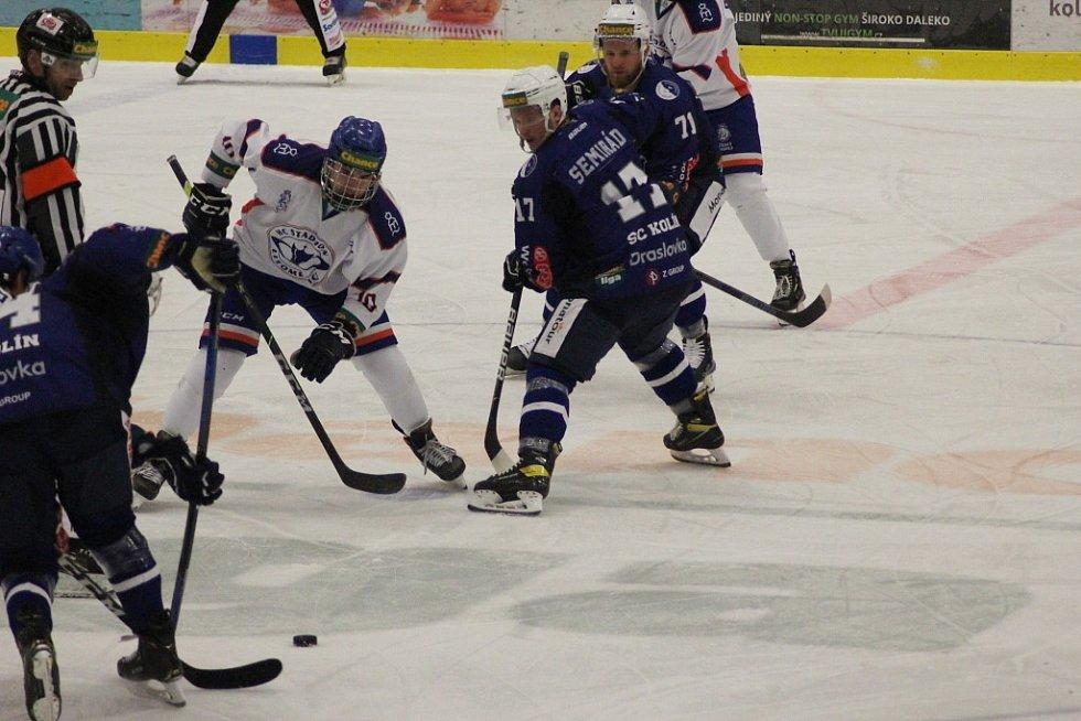Z hokejového utkání Chance ligy Kolín - Litoměřice