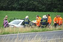 Dopravní nehoda u Podmok: těžce zraněná žena