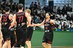 Z basketbalového utkání Ligy mistrů Bandirma - Nymburk (72:86)