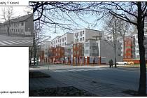 Vizualizace nového bytového komplexu V Kolonii