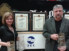 Obchodní náměstek nymburského pivovaru Ladislav Češpiva přebral významná ocenění.