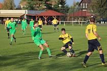 Z fotbalového utkání okresního přeboru Pátek - Přerov n. L. (6:0)