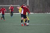 Z přípravného fotbalového utkání Polaban Nymburk - Varnsdorf (0:3)