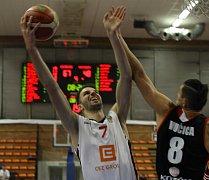 Z basketbalového utkání nejvyšší soutěže mužů Nymburk - Svitavy (81:69)