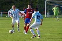 Z fotbalového utkání I.B třídy Městec Králové - Sadská (4:0)