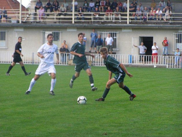 Ze zápasu Union Čelákovice - Česká Lípa (0:1)