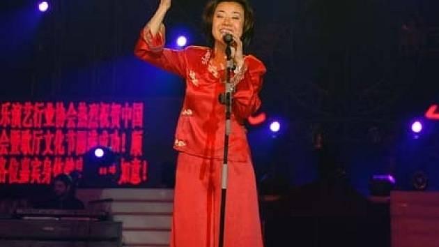 Zpěvačka Feng-yun Song, která za celým festivalem stojí