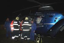 Pro mladíka do Jiřic musel přiletět vrtulník