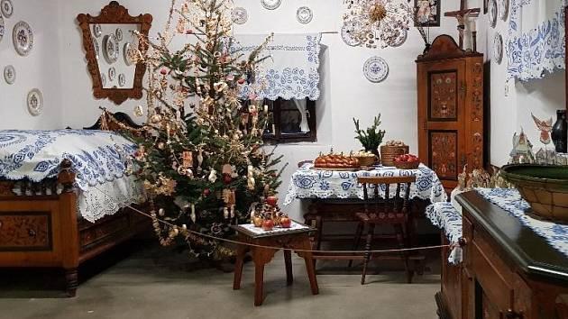 Lidové vánoce v přerovském skanzenu.