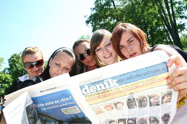 Den s Nymburským deníkem v Poděbradech