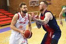 Basketbalové utkání Kooperativa NBL na půdě Brna Nymburk vyhrál
