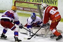 Z hokejového utkání druhé ligy Nymburk - Žďár n. S. (2:3 pp)
